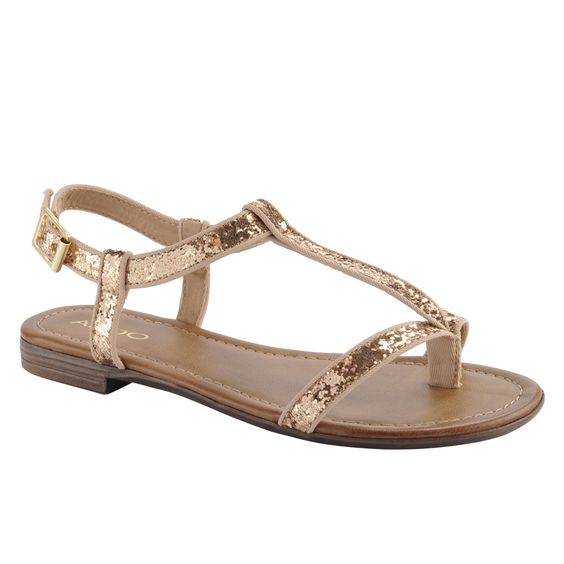 Aldo Berger glitter sandals.  Very comfortable and cute!  I wear them with everything.