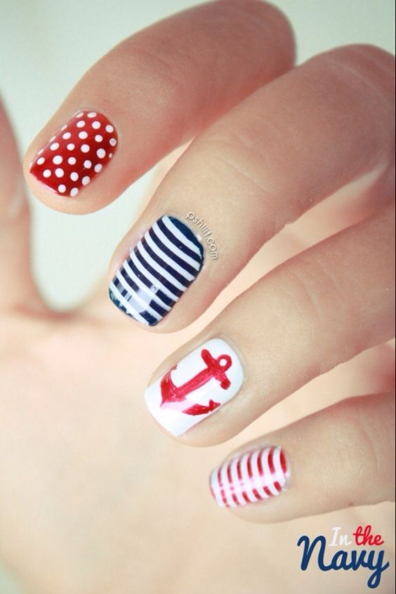 Nails Americano find more women fashion ideas on www.misspool.com: