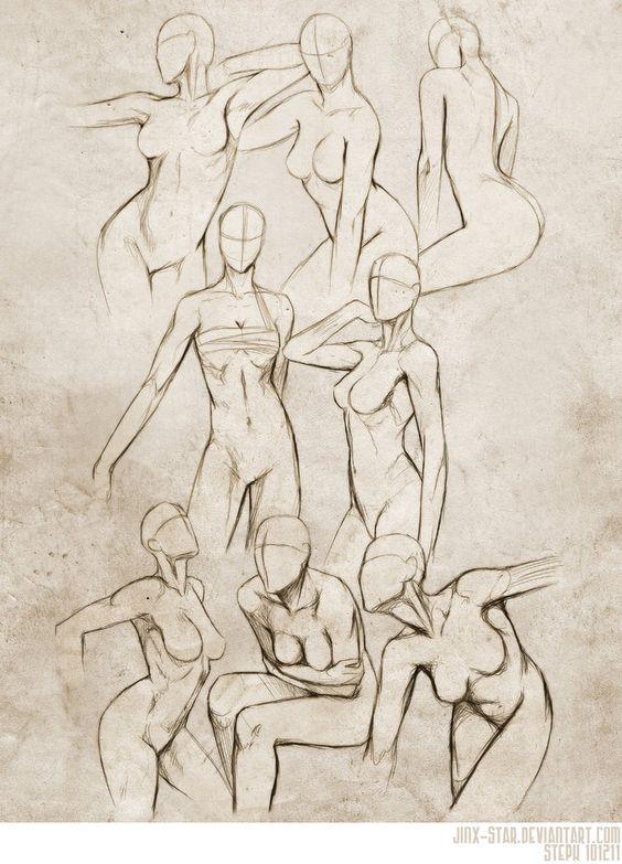 Feminino tronco poses 2