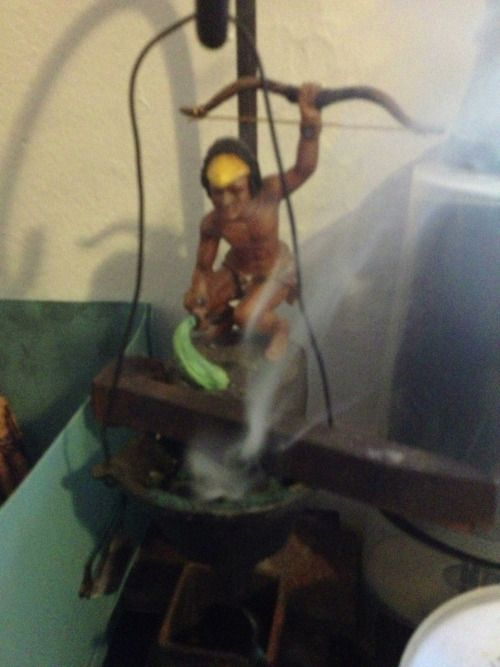 magia-afro-latino:  Burning incense for Oggun and...