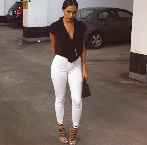 Weiße enge Jeans - kleiderkreisel.de