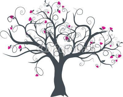 Vecteur s rie dessin d 39 arbre fleurs vectoriel au printemps inspirations pinterest - Tuto arbre a chat ...