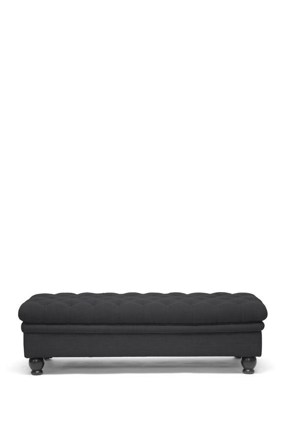 Guildford Grey Linen Modern Tufted Ottoman on @HauteLook