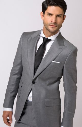 black suit grey shirt - Google Search | Wedding Ideas | Pinterest
