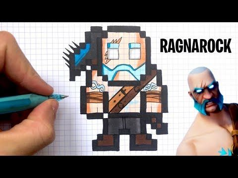 Chadessin Pixel Art Fortnite Youtube Dessin Pixel