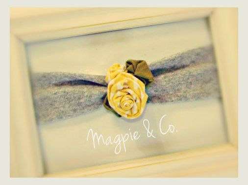 yellow rose head band for little girl or baby! from magpie & co. on etsy!