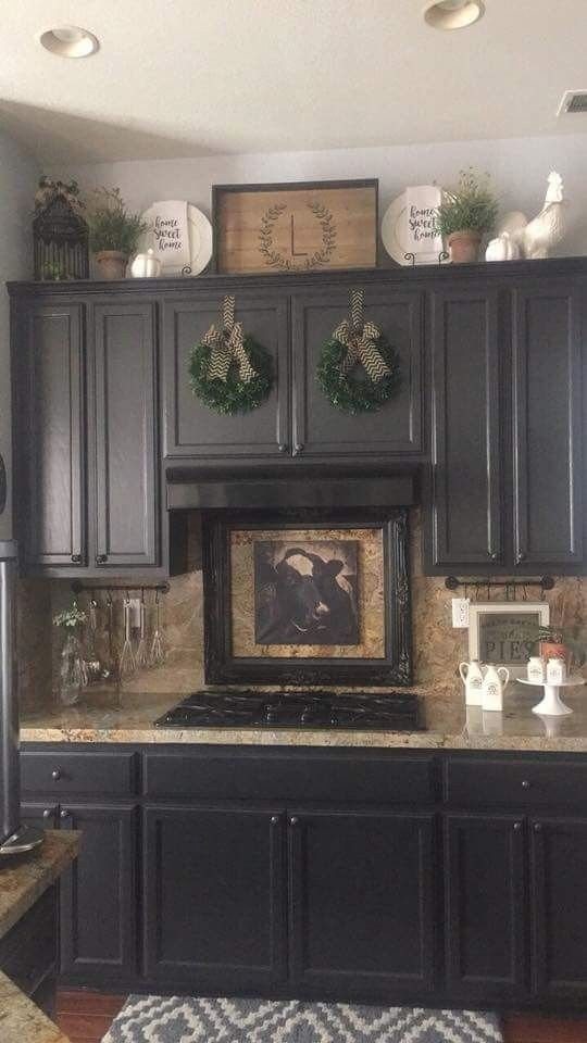 Kitchen Cabinet Ideas We Like Our Kitchens We Spend So Much Time In Them D Decorating Above Kitchen Cabinets Farmhouse Kitchen Decor Kitchen Cabinets Decor