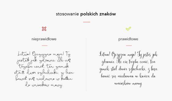 Najlepsze czcionki do zaproszeń z polskimi znakami