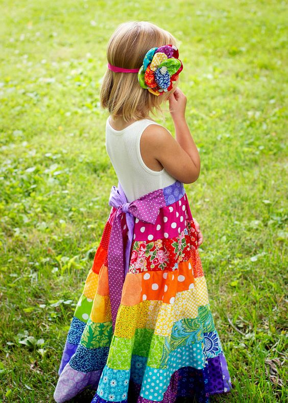 Little Girls Maxi Dress Flower Girl Dress Little by ninislove