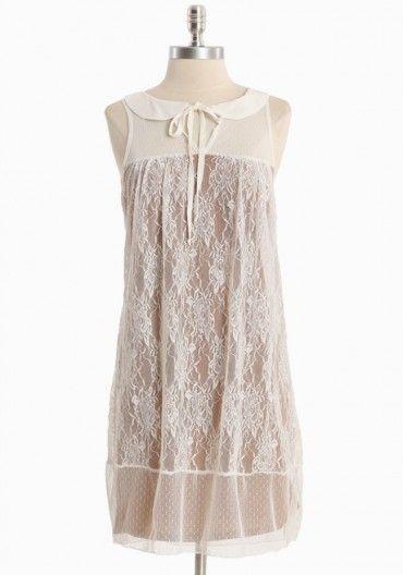 Highland Ridge Lace Dress In White