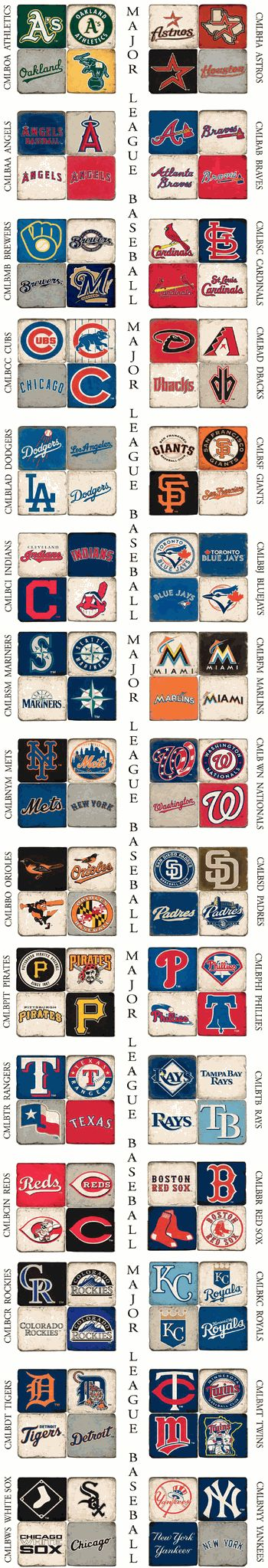 MLB Team Marble Coaster SetsALL TEAMS AVAILABLE!