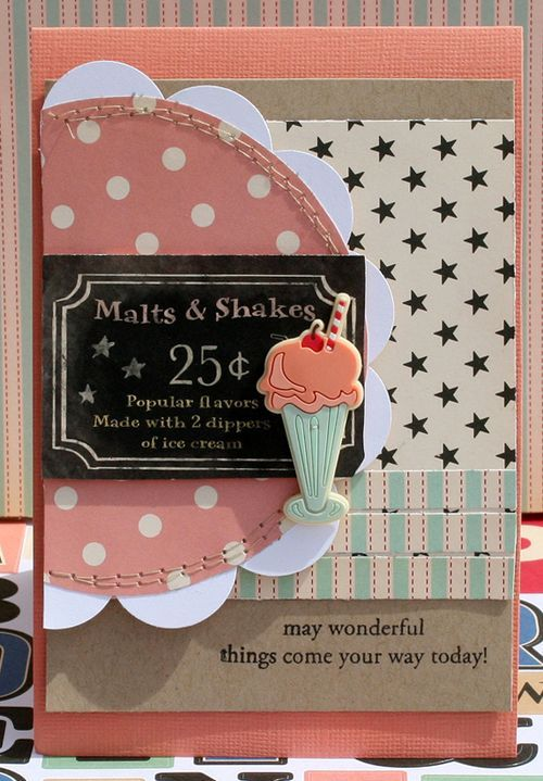 Malts and Shakes Card by Danni Reid