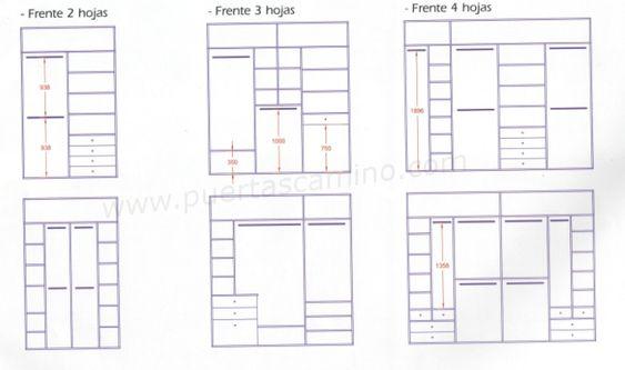 Variedad de distribuciones a medida para interiores de - Distribuciones de armarios empotrados ...