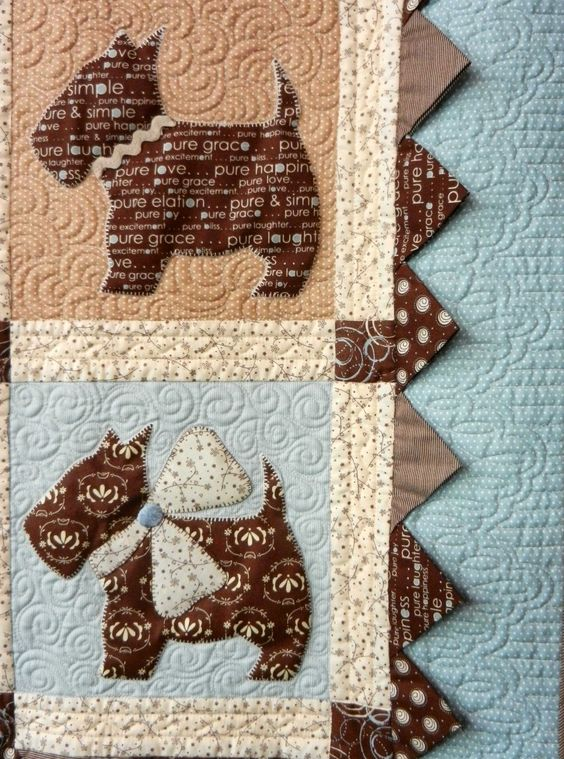 "Perros patchwork ""Bitsy Button & Friends"" pattern by Bunny Hill Designs"