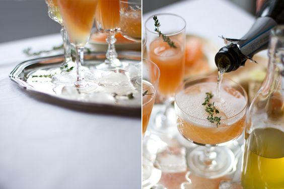Grapefruit Ingwer Thymian Prosecco | www.nom-nom.ch