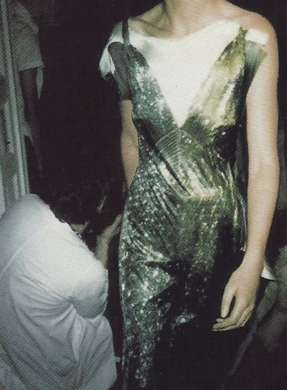 backstage at maison martin margiela spring summer 1996