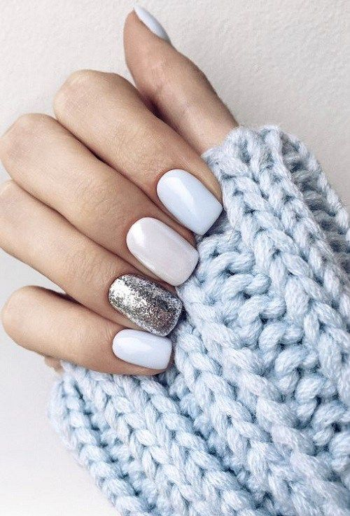 33 Of white nail ideas for winter 2018 2019