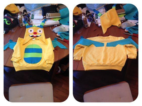 Homemade Henry Hugglemonster costume for my 2yo