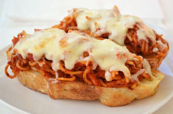 So crazy I love it: Spaghetti Melt!