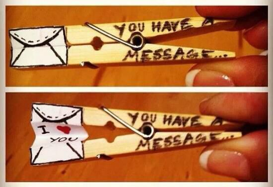 Cute message clothespin!