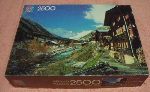 MB Milton Bradley Grand 2500 Piece Jigsaw Puzzle Alpine Village 1983 | eBay $5.99
