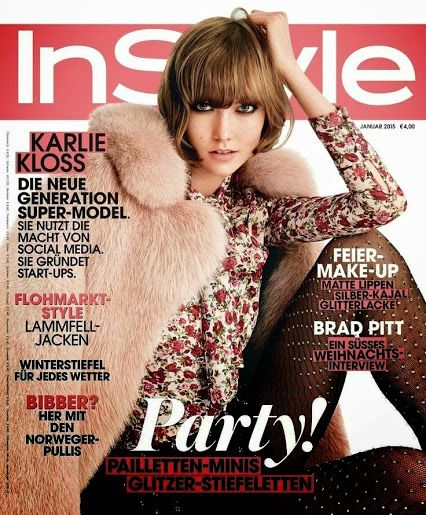 Karlie Kloss on the cover of InStyle Germany, January 2015.: