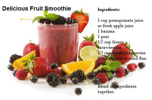 Delicious Fruit smoothie