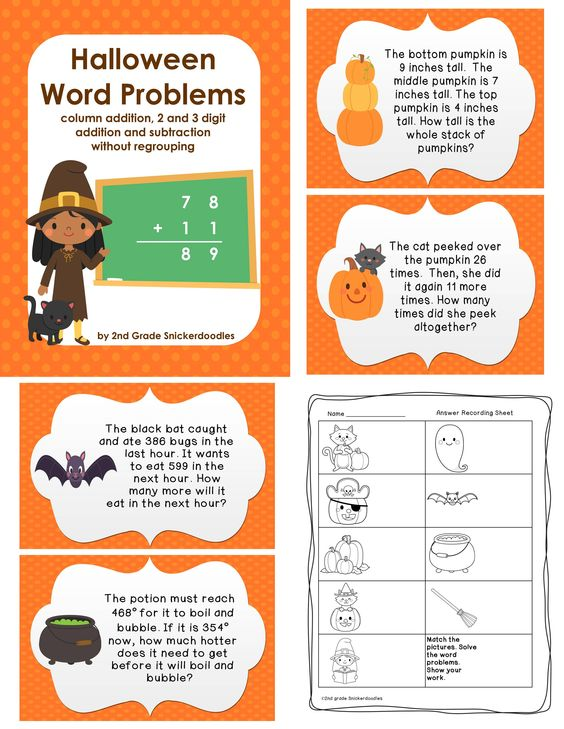 math worksheet : addition and subtraction word problems and task cards on pinterest : Halloween Math Word Problems Worksheets