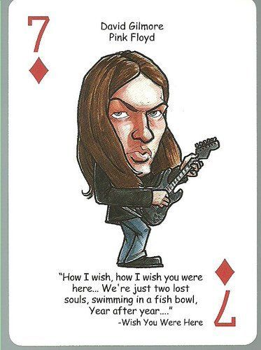Pink Floyd Music Trivia Playing Card Single Swap Queen Of Hearts 1