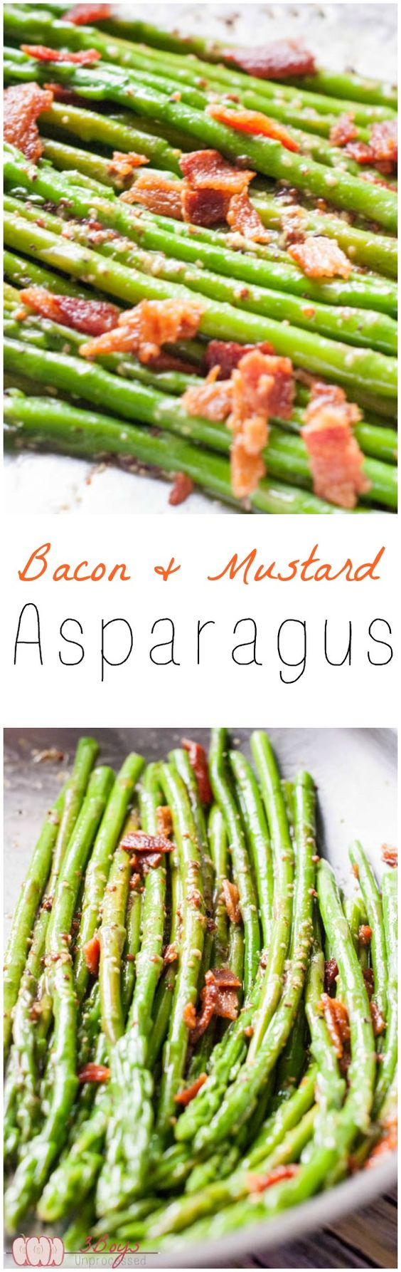 Bacon and Mustard Asparagus | Mustard, Bacon and Super Easy