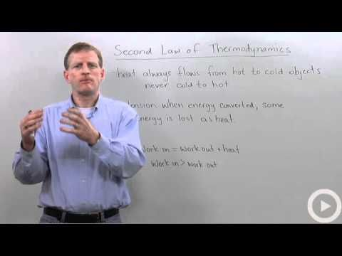 Second Law of Thermodynamics - he explains it a minute 30 seconds, and doesn't lose me until about 60 seconds in!
