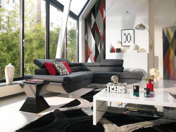 motifs géométriques pour un salon contemporain