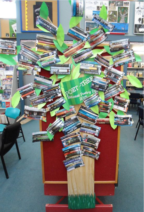 Library Displays: Poet-Tree: