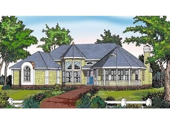 Victorian House Plan with 2367 Square Feet and 3 Bedrooms from Dream Home Source   House Plan Code DHSW075924