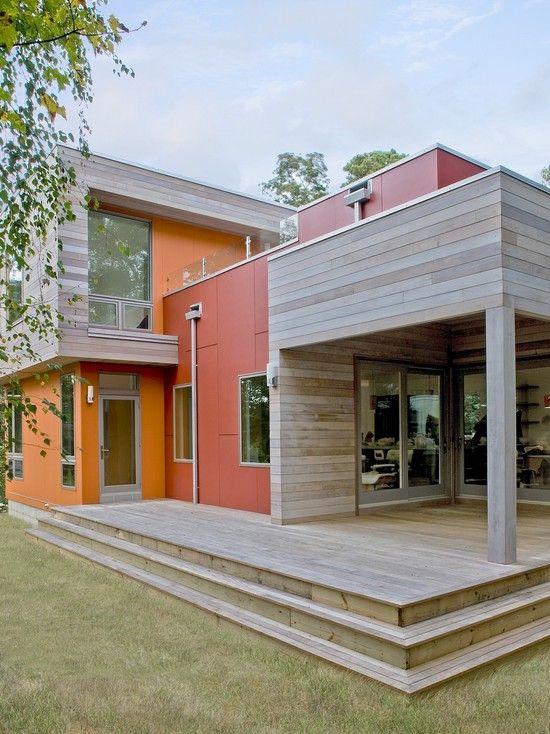 Home Design, Rustic Contemporary Exterior Of Self Sustaining Home