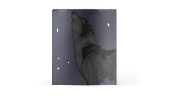 """Howling Wolf"" Mug #wolves #moon #dogs #stars #animals"