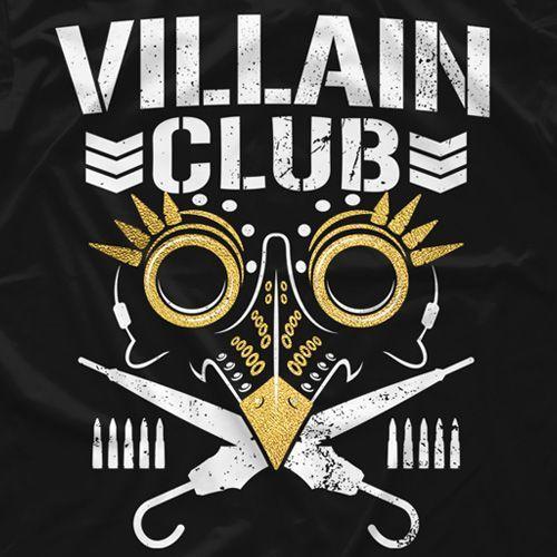 New Japan Pro Wrestling Villain Club Gold T Shirt Bullet Club Logo Wrestling Stars Japan Pro Wrestling