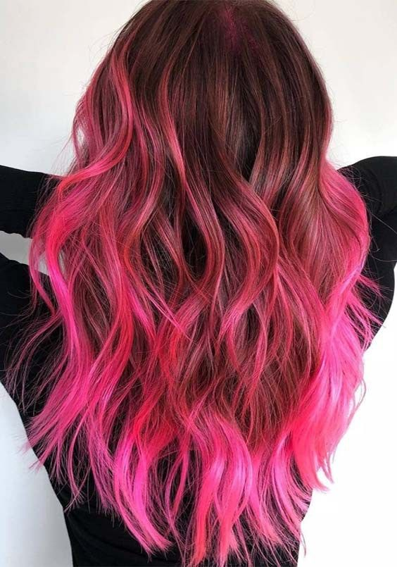 Updated Hairstyles Trends Beauty Fashion Ideas In 2020 Neon Hair Color Hair Color Pink Neon Hair