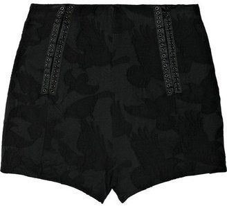 ShopStyle: McQ High-waisted brocade shorts