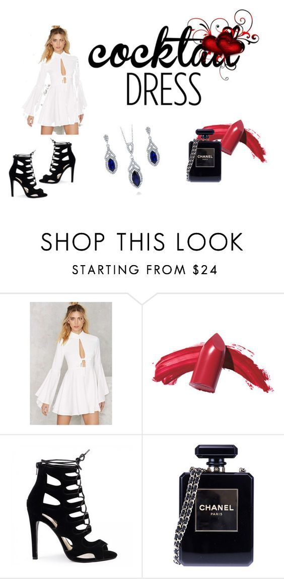 """Party Hard"" by rochgo ❤ liked on Polyvore featuring Nasty Gal, Elizabeth Arden, Chanel and BERRICLE"