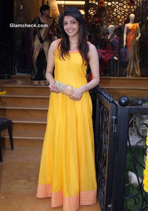 Celebs Attend Hue Store Launch In Mumbai Dress Indian Style Yellow Long Dress Indian Dresses