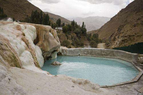Hot spring - Tajikistan