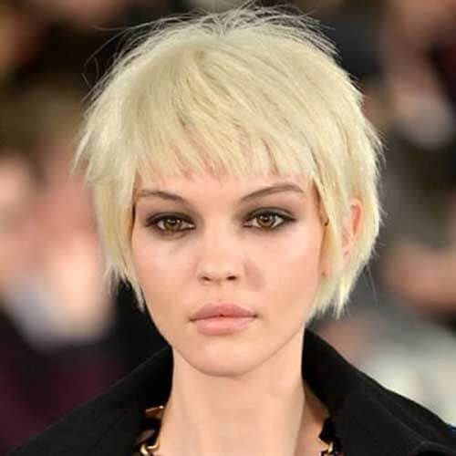 Short Haircuts With Bangs 17 In 2020 Short Haircuts With Bangs Haircuts With Bangs Short Hairstyles For Thick Hair