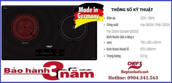 Bếp điện từ Chefs có những model nào nhập khẩu từ Đức