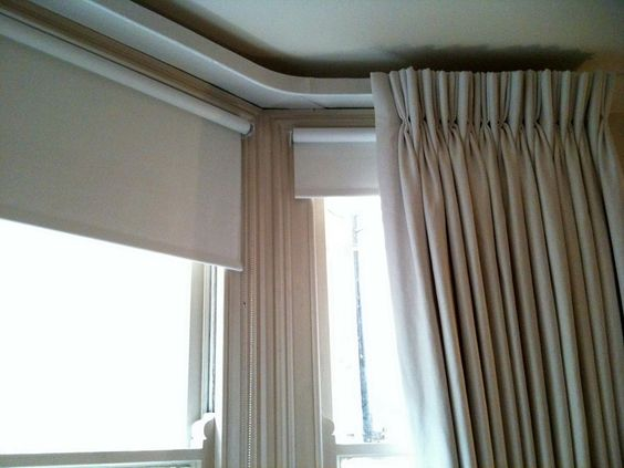 Double Track Curtain Rail For Bay Window Curtain