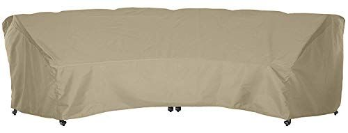 crescent curved sofa cover