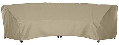 Sunpatio Outdoor Xl Crescent Curved Sofa Cover 190 L 128 L X 36 W