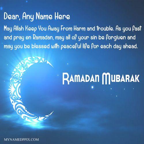 happy ramadan mubarak wishes greeting card write my