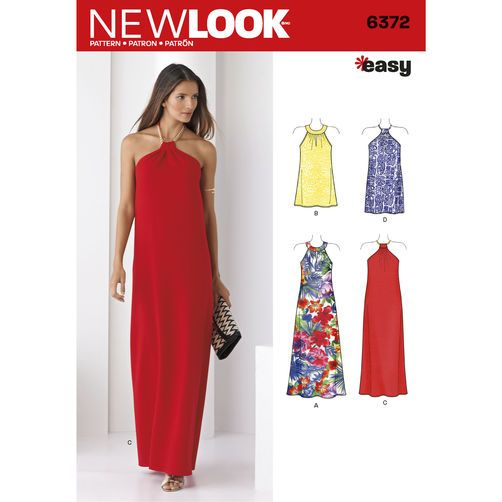 New Look Pattern 6372 Misses' Dresses Each in Two Lengths: