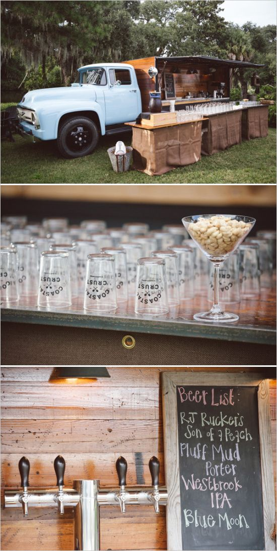Of! We need a beer truck!! This would be perfect! Locally Sourced Charleston Wedding: Budget Breakdown